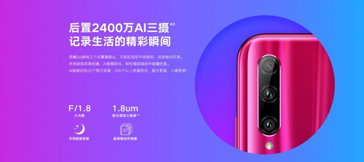 Honor 20i with kirin 710