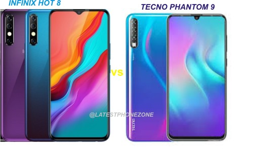Infinix Hot 8 vs Tecno Phantom 9 specs and price comparison