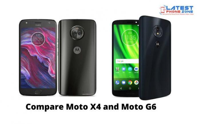 Compare Moto X4 and Moto G6