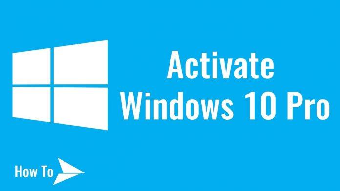 Windows 10 Pro Activator CMD